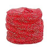 GreatestPAK Loop Schal Damen Printed Silk Schal im Freien Licht Gradient Gradation Schal Sonnencreme Chiffon Schal,rot