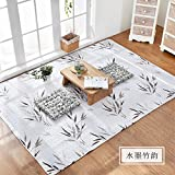 SUMMERHOME-Big Carpet Kids Nursery Entertainment Floor Area Teppiche Mat Maschine waschbar für Wohnzimmer/Bett Zimmer,Japanische Baumwollhausmatten, 110cm × 160cm, S