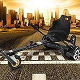 "Hoverkart mit LED-Beleuchtung für Hoverboard E-Scooter Hover Seat GoKart Self Balance Scooter Sitz (6,5"" / 8,0"" / 10"") verstellbar (schwarz)"