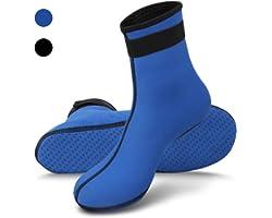 RTDEP Sport Socks, 3mm Neoprene Water Socks For Women Men, Anti-Slip Water Shoes, Thermal Wetsuit Socks, Water Sports Snorkel