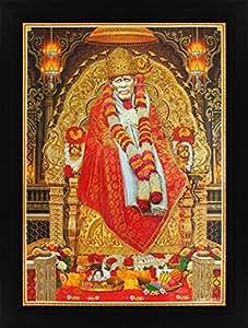 Avercart Shri Sai Baba / Shree Sai Baba / Shirdi Saibaba Poster 12x16 inch with Photo Frame (30x40 cm framed)