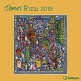 James Rizzi 2019 - Kunstkalender, Broschürenkalender, Wandkalender, Posterkalender, Pop Art Kalender  -  30 x 30 cm