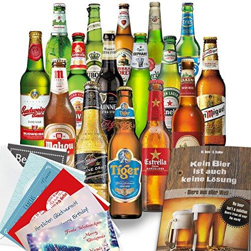 Bier Geschenke für Männer mit 16 Flaschen