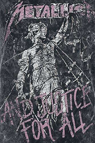 Unbekannt Metallica .and Justice For All Girl-Shirt Schwarz Schwarz