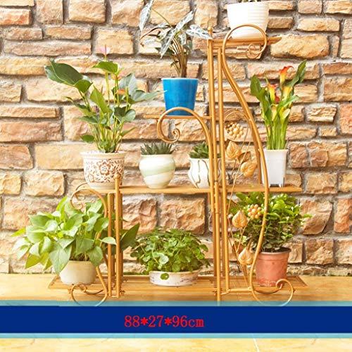 NMDD Multi-Layer-Massivholzboden Blumentöpfe Rack Regal Sukkulenten Bonsai Balkon Wohnzimmer Interieur Handschuh Palettenregale Garten Hängeplaner Körbe