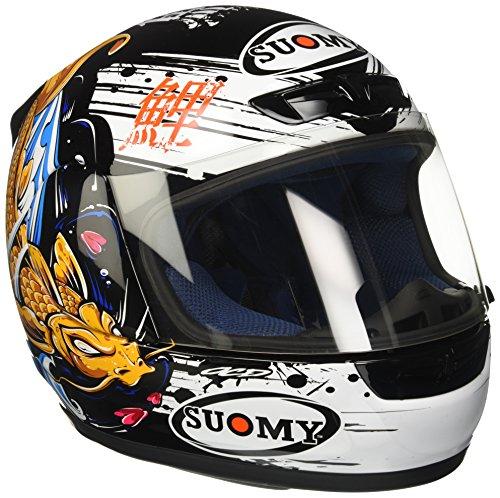 Suomy KSAP0027.3 Casco Moto, Nero/Oro, S
