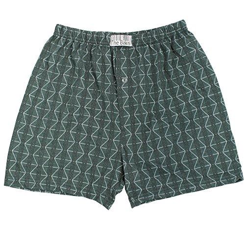 6er Pack Boxershorts Herren mit Eingriff 100% Baumwolle Farben können variieren - 6