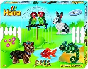 Hama Dan Import 3128 - Juego de cuentas para planchar, diseño de animales