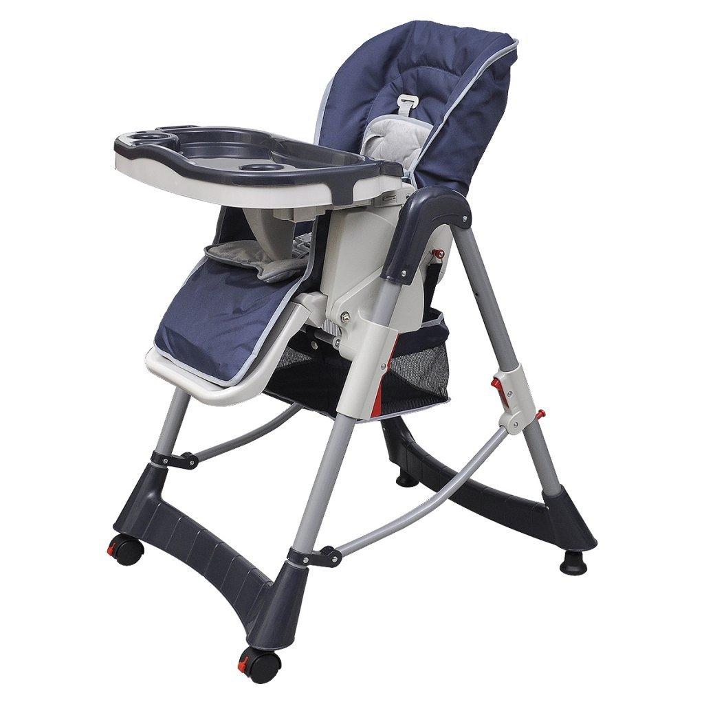 vidaXL Seggiolone deluxe blu scuro altezza regolabile multifunzioni bebe bambino