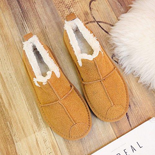 SQIAO-X- Comunità per migliorare Scarpe Donna Scarpe invernali scarpe eleganti, passo un piede di neve Stivali Stivali piana plus velvet caldo cotone scarpe La scheda.