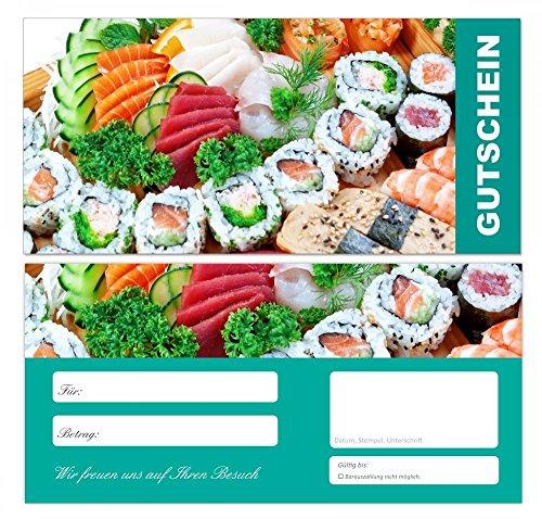 10 Stück Premium First Class Geschenkgutscheine (Fisch-679) – Ein schönes Produkt für Ihre Kunden Gutscheine Gutscheinkarten für Bereiche wie Einzelhandel,