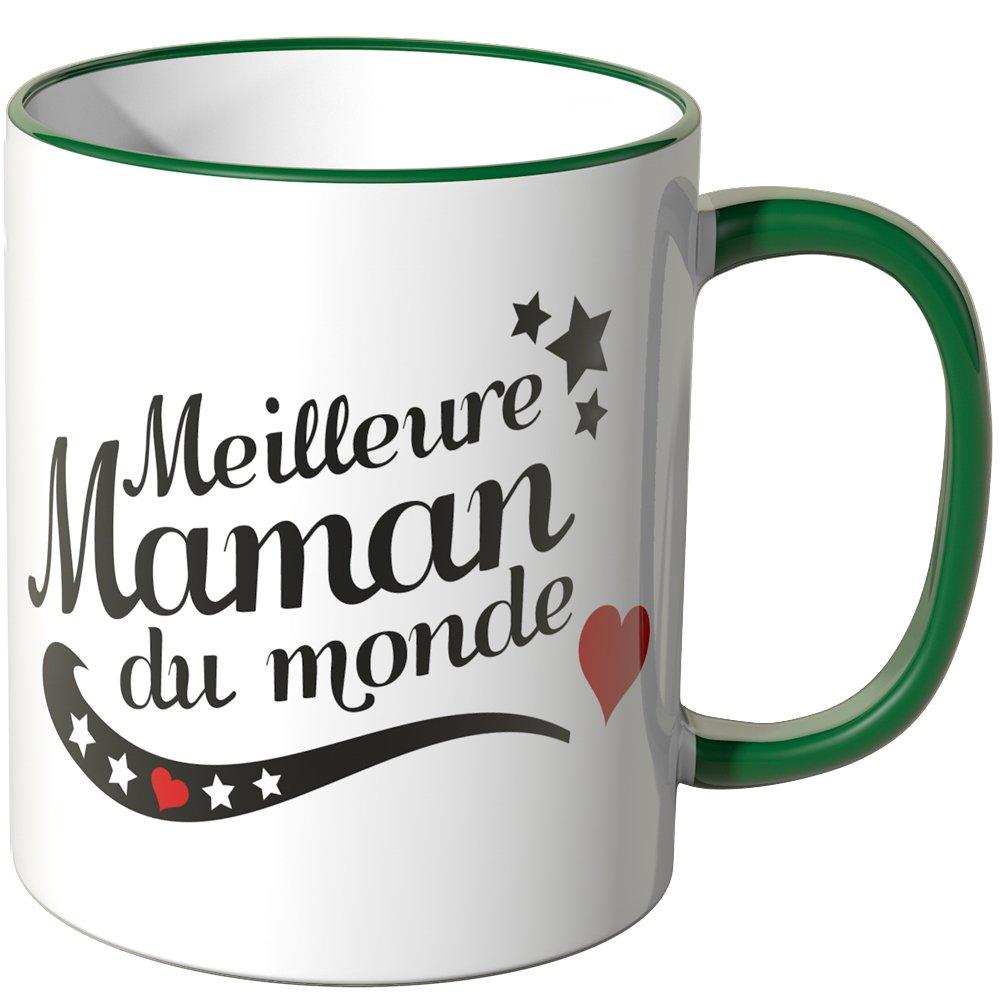 "Connu Wandkings Tasse, message ""Meilleure Maman du monde"" - ORANGE  VZ28"