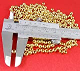 Jaz Golden Finish Round Metallic Beads for Jewellery Making (5 and 2 mm) Pack of 100 Pieces
