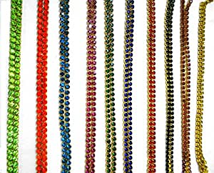 Stone chain all super bright gliterring colours combo 10 colours for jewelry making/crafts