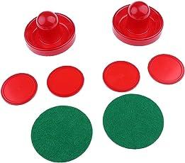 Segolike 3 Sizes Air Hockey Felt Pushers and Pucks Set Including 2 Strikers 4 Pucks