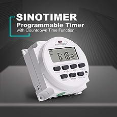 Footprintse SINOTIMER TM618N-6V 6V Programmierbarer Digital-Timer Countdown Zeit-Farbe: Weiß