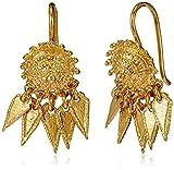 Jewel House Golden Plated Drop Earrings ...