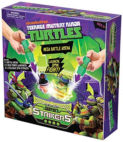 Ninja Turtles - Mega Spin Battle Strikers Arena, azione giochi per bambini (Mondo Giocattoli 25197)