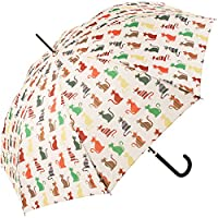 Signare Womens Automatic Stick Umbrella in Cheeky Cat Design
