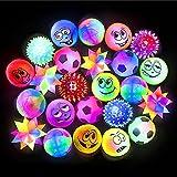 German Trendseller - 6 x LED Springball Mix 6 cm  Blinklicht Flummiball  Kindergeburtstag