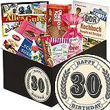 30. Geburtstag |Ostbox mit Süßigkeiten | Geschenkbox mit Viba Nougat Stange, Liebesperlen und vielem mehr
