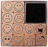 STEMPELSET mit 12 Smiley Stempeln, auch als BELOBIGUNGSSTEMPEL FUER LEHRER