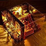 Kid Workbench DIY Set Spielzeug DIY Baum Haus Karneval Nacht manuelle Montage Modell Miniatur 3d Gewächshaus Handwerk Kits für Erwachsene - Holzpuppen Haus mit Möbeln und Zubehör, Lernspielzeug für Mä