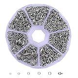Dreamtop Anneaux Ouverts 4 mm 5 mm 6 mm 7 mm 8 mm 9mm et fermoir à ressort Ensemble boitier pour DIY Bijoux Apprêt