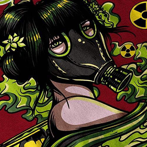 nuklear Gas Maske Verrückt Damen Schwarz S-2XL Muskelshirt   Wellcoda Rot