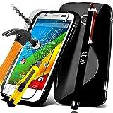 *** COFFRET COMPLET *** Etui Housse SAMSUNG GALAXY CORE 4G SM G386F coque silicone gel souple avec motif S + FILM PROTECTION Ecran en VERRE Trempé CORE 4 G filtre protecteur d'écran vitre INCASSABLE + STYLET NOIR pour Smartphone SAMSUNG GALAXI CORE4 LTE SM G386 G386F SM G386F G 386 G386