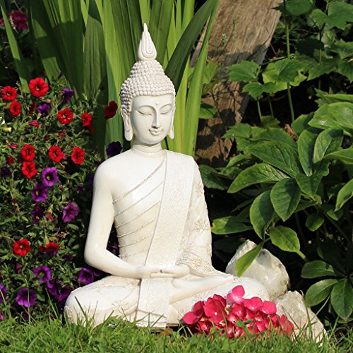 Thai Buddha Weiß Statue groß 40 cm - 3