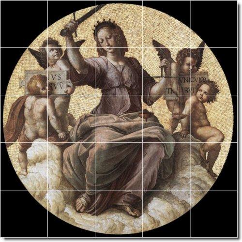 RAPHAEL RELIGIOSO PARA AZULEJOS MURAL 30  30X 30CM CON (25) 6X 6AZULEJOS DE CERAMICA