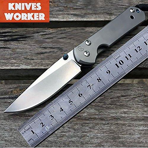 Chris Reeve Sebenza 21 Couteau pliable de poche avec une petite lame en acier et titane, outil EDC (Every Day Carry) idéal pour la survie, avec boîte cadeau
