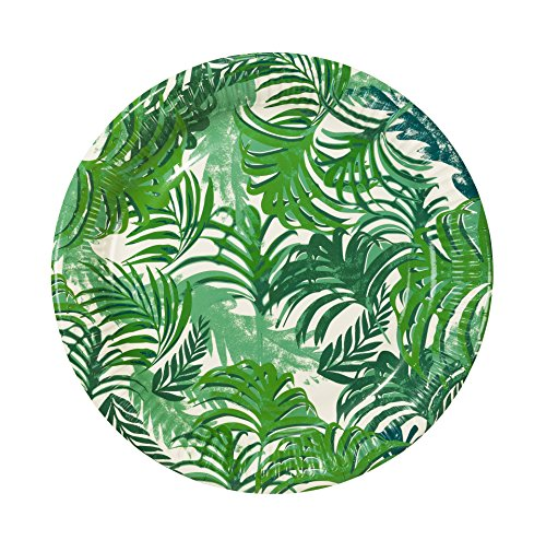 Talking Tables Tropical Fiesta; Pappteller für Geburtstage, Grillfeste und Sommerpartys, Grün (12 pro Pack in 1 Design)