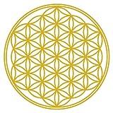 Aufkleber Blume des Lebens Scheibenaufkleber in 8 Größen und 25 Farben (20x20cm goldmetalleffekt)