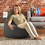 Designer Recliner Gaming Bean Bag SLATE GREY - Indoor & Outdoor Beanbag Chair (Water Resistant) by Bean Bag Bazaar®