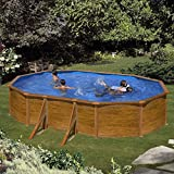 Gre KITPROV503W Framed pool Oval 14550L Blue, Wood above ground pool - Above Ground Pools (Framed pool, Oval, 14550 L, Blue, Wood, Wood, EN16582, EN16713)