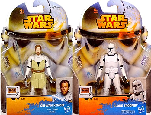 Obi-Wan Kenobi & Clone Trooper im Set AOTC / Clone Wars - Star Wars Saga Legends 2015 von Hasbro / Disney
