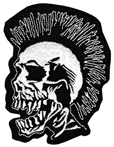 Punk Calavera parche plancha de