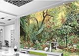 Yosot Custom 3D Wandbilder Tapeten Garten Grüne Bäume 3D Wohnzimmer Luxus Foto Wandbilder 3D Tapete-250Cmx175Cm