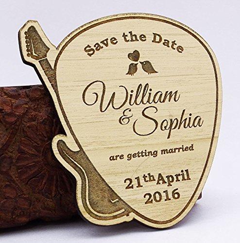 sparen sie das datum Holz Magnet 50 Gewohnheit gravierten Holz Magnet rustikale Hochzeit Ankündigungen Idee