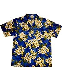 "Chemise Hawaienne Homme ""Summer Flowers (blue)"" taille M – 6XL, bleu"