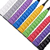 Febbya Raquette Grip, Overgrips 9 Pcs Anti Slip Absorbante Racket Grip Tennis Raquette de Raquette de Pêche de Badminton Squashball