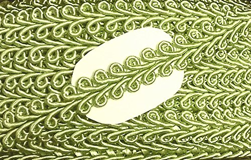 Großhandel für Schneiderbedarf 2 m Posamentenborte 10 mm lindgrün