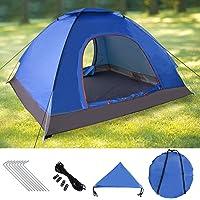 Sable Pop Up Zelt Wurfzelt Kuppelzelt 3-4 Personen Wasserdicht Zelt Outdoor Camping 210 x 190x 120 cm