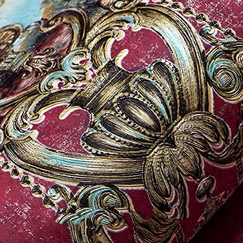 DODOMOO Tapete Europäische Tapete Atmosphäre 3D Vlies Retro Amerikanische Tapete Home Wohnzimmer Schlafzimmer TV Hintergrund (Color : A Blush) (Blume Schönheit Blush)