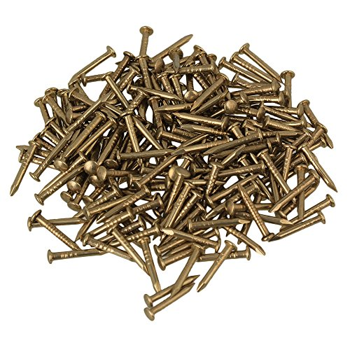 BQLZR 10mm Rundkopf Messing Antik Reinkupfer M?bel Miniatur N?gel Packung von 100