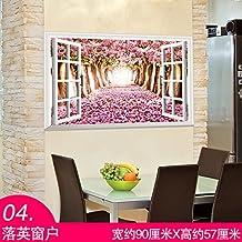 3D de papel tapiz de pared sólida emulación playa bordeada de paisaje indican que china flor carretilla