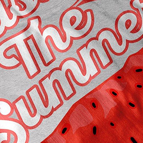 Geschmack Frisch Sommer Wassermelone Damen Schwarz S-2XL Muskelshirt | Wellcoda Grau