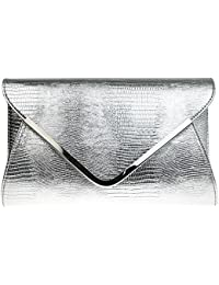 Amazon.co.uk: Silver - Clutches / Women's: Shoes & Bags